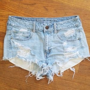 American Eagle highw waisted festival shorts
